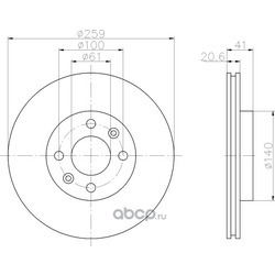 Тормозной диск (Hella) 8DD355107121