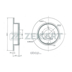 Тормозной диск (Zekkert) BS5158