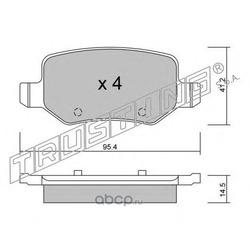 Комплект тормозных колодок, дисковый тормоз (Trusting) 5810