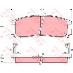 Колодки тормозные задние (TRW/Lucas) GDB1023