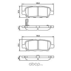 Комплект тормозных колодок, дисковый тормоз (Bosch) 0986494090