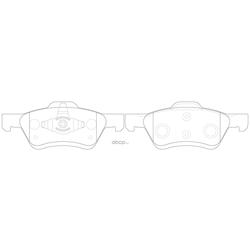 Колодки тормозные дисковые (FIT) FP1047