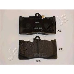Комплект тормозных колодок, дисковый тормоз (Japanparts) PA222AF