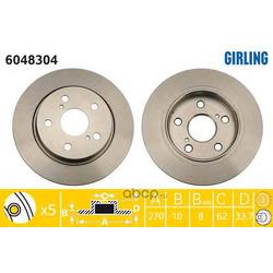 Тормозной диск (Girling) 6048304