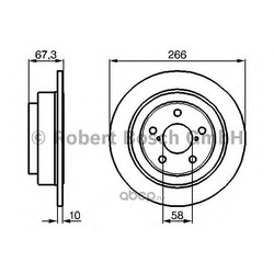 Диск тормозной (Bosch) 0986478799