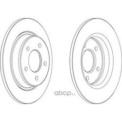 Тормозной диск (Ferodo) DDF1546