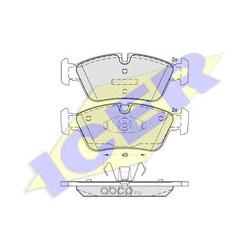 Колодки тормозные дисковые, комплект (Icer) 181698