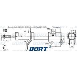 Стойка амортизационная газомасляная передняя левая (BORT) G21845035L