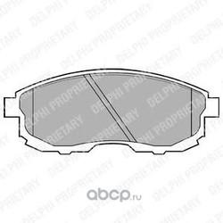 Комплект тормозных колодок, дисковый тормоз (Delphi) LP812