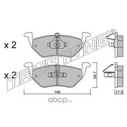 Комплект тормозных колодок, дисковый тормоз (Trusting) 9240
