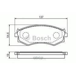 Комплект тормозных колодок, дисковый тормоз (Bosch) 0986461139