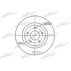 Диск тормозной передний (PATRON) PBD7006
