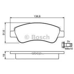 Колодки тормозные дисковые передние комплект (Bosch) 0986494027