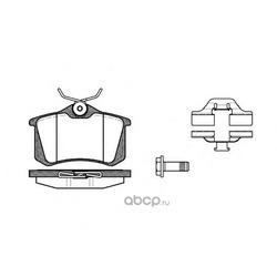 Комплект тормозных колодок, дисковый тормоз (Remsa) 026303