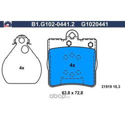 Комплект тормозных колодок (GALFER) B1G10204412