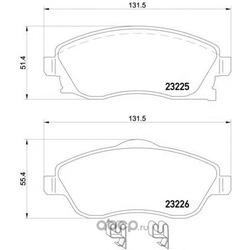 Комплект тормозных колодок, дисковый тормоз (Mintex) MDB2073