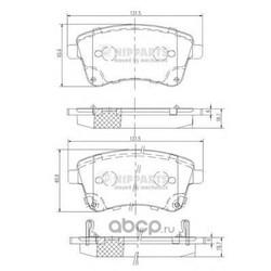 Комплект тормозных колодок, дисковый тормоз (Nipparts) N3600331