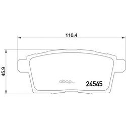 Колодки тормозные дисковые TEXTAR (Textar) 2454501
