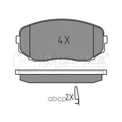 Комплект тормозных колодок, дисковый тормоз (Meyle) 0252454417W