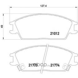 Колодки тормозные дисковые TEXTAR (Textar) 2101202