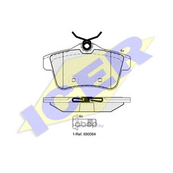 Комплект тормозных колодок, дисковый тормоз (Icer) 181928