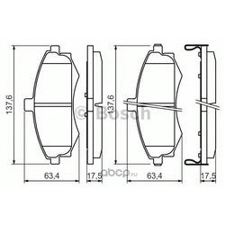 Комплект тормозных колодок, дисковый тормоз (Bosch) 0986424810