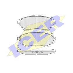 Комплект тормозных колодок, дисковый тормоз (Icer) 181822