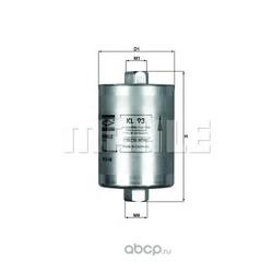 Фильтр топливный Peugeot 205 I-II/309 I-II/405 I-II 1.9 GTi (Mahle/Knecht) KL93