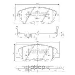 Комплект тормозных колодок, дисковый тормоз (Nipparts) N3605051