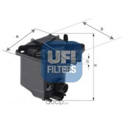 Топливный фильтр (UFI) 2402700