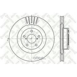 Тормозной диск (Stellox) 60204412VSX