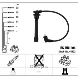 Комплект высоковольтных проводов (NGK) 44332
