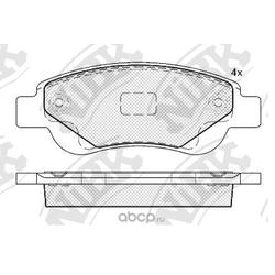 Колодки тормозные дисковые (NiBK) PN1841