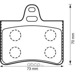 Комплект тормозных колодок, дисковый тормоз (Jurid) 573028J
