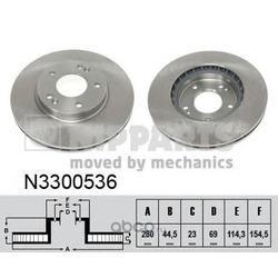 Тормозной диск (Nipparts) N3300536