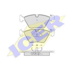 Комплект тормозных колодок, дисковый тормоз (Icer) 180773