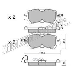 Комплект тормозных колодок, дисковый тормоз (Trusting) 9860