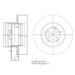 Диск тормозной вентилируемый (Delphi) BG3208