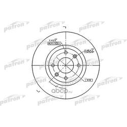 Диск тормозной передний (PATRON) PBD4183