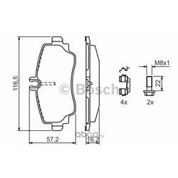 Комплект тормозных колодок, дисковый тормоз (Bosch) 0986424470