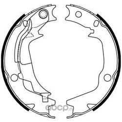 Комплект тормозных колодок (Remsa) 424400