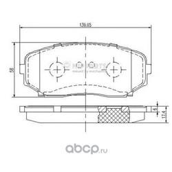 Комплект тормозных колодок, дисковый тормоз (Nipparts) N3603070