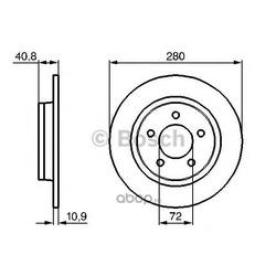 Тормозной диск (Bosch) 0986479181