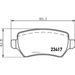 Комплект тормозных колодок, дисковый тормоз (Hella) 8DB355011361