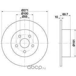Тормозной диск (Mintex) MDC1713