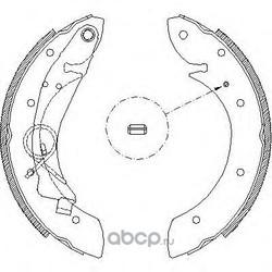 Комплект тормозных колодок (Remsa) 441900
