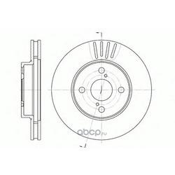 Тормозной диск (Remsa) 674210