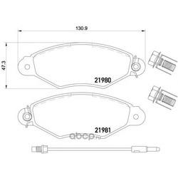 Колодки тормозные дисковые TEXTAR (Textar) 2198003