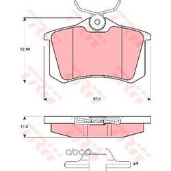 Колодки тормозные задние (TRW/Lucas) GDB1328