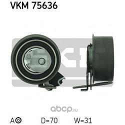Натяжной ролик, ремень ГРМ (Skf) VKM75636